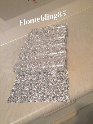 £25.99 • Buy Silver Crushed Diamond Set Of 6 Place Mats, Dining Kitchen Sparkle
