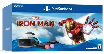NEW Sony PlayStation 4 / 5 VR Marvel's Iron Man PS4 PS5 Bundle W/ Move + Camera • 195.37£