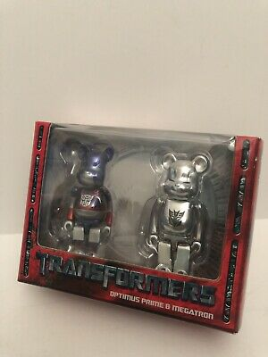 $75 • Buy Medicom Toy Transformers Optimus Prime Megatron Bearbrick 100% Bearbrick Figure
