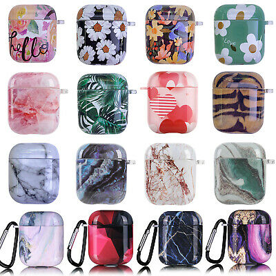 $ CDN7.95 • Buy Print Hard PC Cover Marble Flower Protective Skin For Apple Airpods 2 / 1 Case