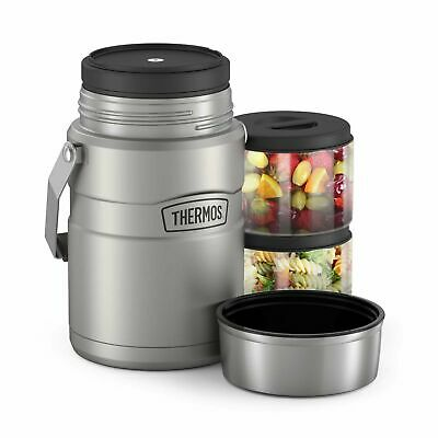 AU74.99 • Buy THERMOS Stainless King 1.39L Big Boss S/S Food Jar With 2 Inner Containers 47 OZ