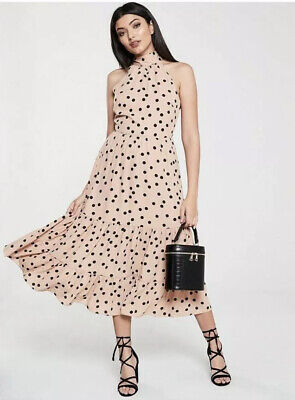 Women's Oasis Polka Dot Tiered Midi Dress - Size 10 • 20.50£
