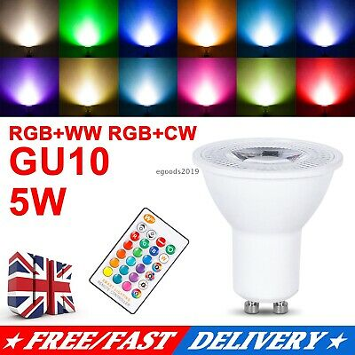 £12.99 • Buy GU10 5W LED Bulbs Light RGB 16Colour Changing Spotlight Lamp With Remote Control