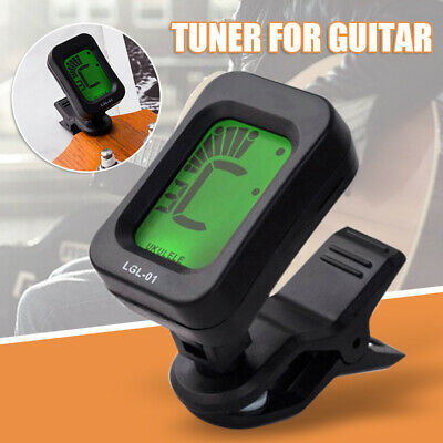 AU6.55 • Buy LCD Acoustic Guitar Tuner Violin Ukulele Bass Electronic Tuning Tuner Strings
