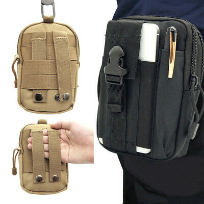 £4.99 • Buy Tactical Waist Bag Pouch Pack Molle Utility Military Wallet Multi Purpose Belt