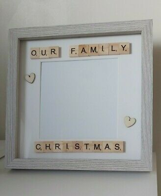 Scrabble Art Our Family Christmas Picture Frame • 6.99£