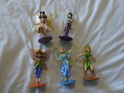 Disney Fairy Lot Of 5 - Figures - Stand Up Toys / Fairy Garden  / Cake Toppers • 21.70£