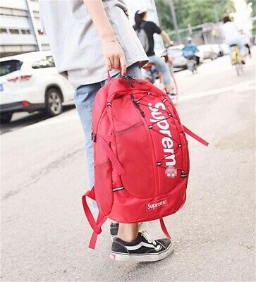 $ CDN13.33 • Buy 2021 NEW Supreme 17ss Backpack Waterproof Box Logo Mountaineering Bags Travel