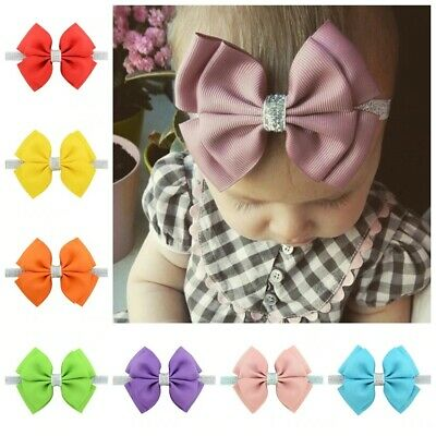 AU0.85 • Buy Newborn Headband Ribbon Baby Diy Hair Accessories For Kids Elasti Hair Bow