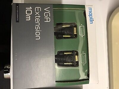 Maplin VGA Extension Cable 10M Long Female To Male • 4£