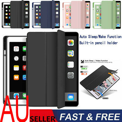 AU18.99 • Buy Smart Cover Case For IPad 2020/2019 8th/7th 10.2/10.9 With Pencil Holder