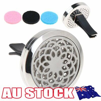 AU9.92 • Buy Stainless Car Air Vent Freshener Essential Oil Diffuser Locket Aromatherapy AL