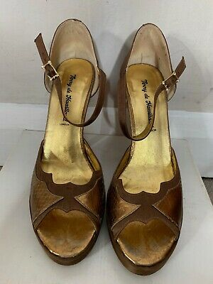 Terry De Havilland. Aries Bronze Platform Shoes Size 40/uk7 • 24£