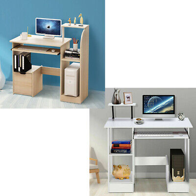 Home Computer Desk PC Laptop Table Writing Office Shelves Cabinet Small For Kid  • 65.99£