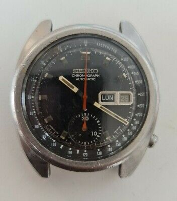 $ CDN180.65 • Buy Vintage Seiko 6139-6012 Cronograph Automatic For Parts Doesn't Work  Febrary 78