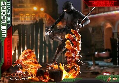 $ CDN471.65 • Buy Hot Toys 1/6 Scale Mms541 Marvel Spiderman Stealth Suit Deluxe Version Far From