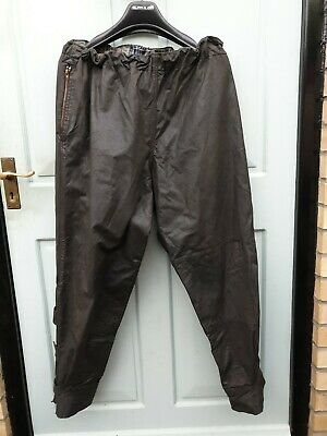 Belstaff Trialmaster, Black Waxed Cotton Over Trousers, No Label, Vintage Medium • 38£