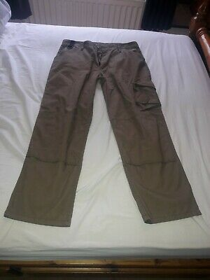Scruffs Trousers Beige/brown 36/32 Worker/skate/sparky/trades/screwfix/toolstati • 15£