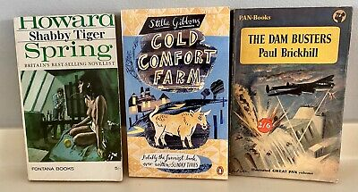 The Dam Busters, Cold Comfort Farm, Shabby Tiger - 3 Book Set • 9.95£