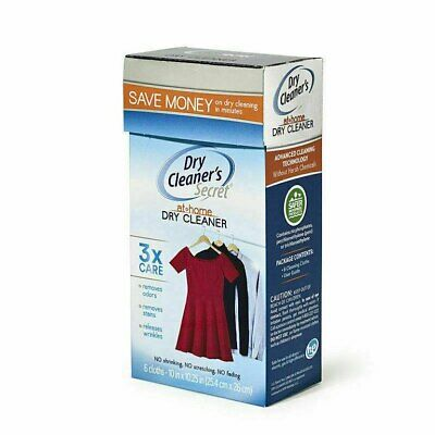 Dry Cleaners Secret 6 Sheets The Original Dry Clean At Home Gentle Stain Removal • 15.95£