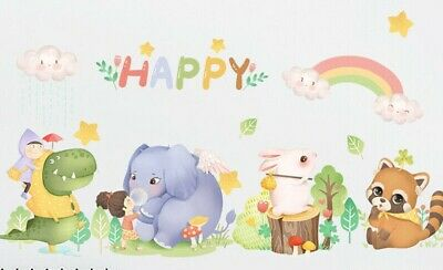 £7.98 • Buy Removable Animals Jungle Zoo Elephant Wall Sticker  Baby Kids Children  Room