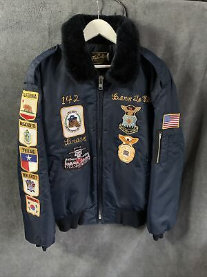 £80 • Buy Vintage TIMBER KING US Air Force Patch Flying Bomber Jacket Mens Size X LARGE