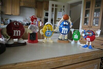 Large Size Figures 6 Of M & M'S Collectibles / Candy Sweet Dispenser Up To 10 In • 5£