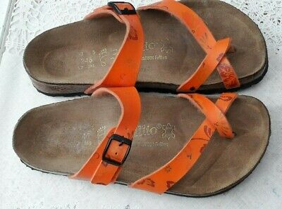 Birkenstock Papillio Orange Paisley Mayari Sandals - Uk 5, Eur 38 Regular Fit • 32.99£