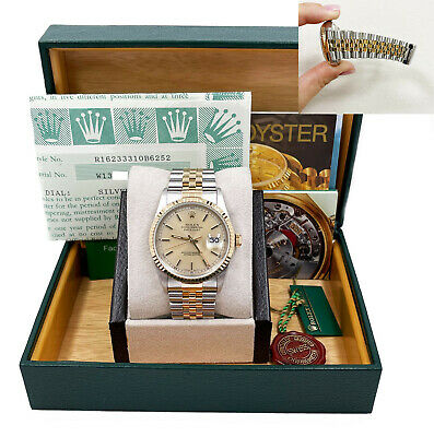 $ CDN9373.81 • Buy Rolex Datejust 16233 Champagne Dial 18K Yellow Gold Stainless Steel Box Papers