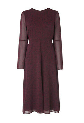 AU123.26 • Buy LK Bennett Celia Shift Dress/ Purple Pre-ruby/ Size 14
