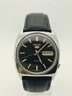 $ CDN13.23 • Buy Seiko 5 Black Dial Automatic Watch 17 Jewels (GREAT CONDITION) SERVICED