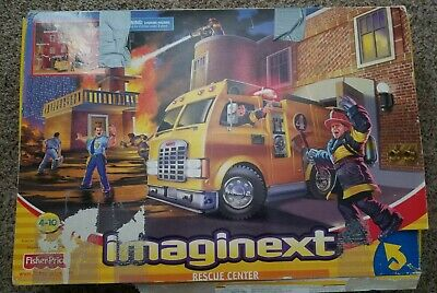 FISHER PRICE IMAGINEXT RESCUE CENTER 78328 FIRE STATION FIREMAN Expanded Set • 12.81£