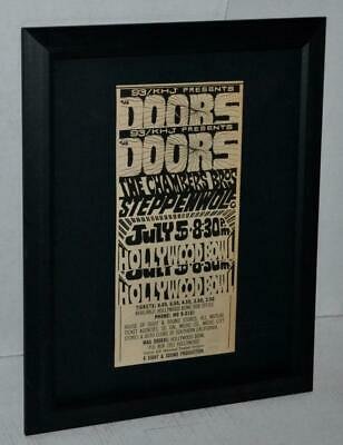 $49.99 • Buy The Doors 1968 Hollywood Bowl Chambers Bros  Framed Original Concert Ad