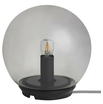 Ikea FADO Table Lamp Glass Gray Orb Light 6 3/4  New (Bulb Included)  • 23.08£