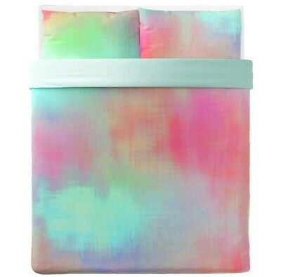 Ikea Pipstakra Queen Duvet Cover 2 Pillowcases Multicolor Rainbow New • 47.42£