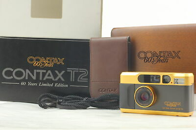 $ CDN2664.26 • Buy [Almost Unused In Box] Contax T2 60th Years Limited Gold Film Camera From JAPAN