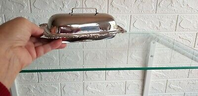 £9 • Buy Vintage Silver Plated Butter Dish