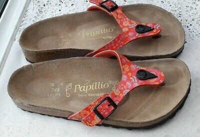 Birkenstock Papillio Red Floral Turin Ladies' Sandals - Uk 5, Eur 38 Regular Fit • 36.99£