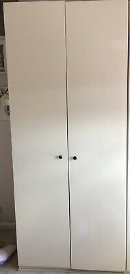 Ikea Pax Tall Double White Wardrobe 100cm Wide 236cm Tall-cheap Bedroom Storage • 12.90£