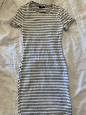 AU12 • Buy Urban Outfitters BDG Bodycon Stripe Dress Grey And White Small