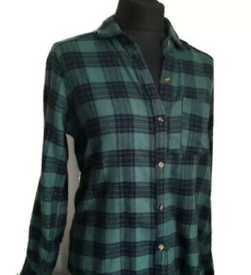 AU21.64 • Buy HOLLISTER Green And Navy Check Flannel SHIRT UK Size XS Excellent Condition