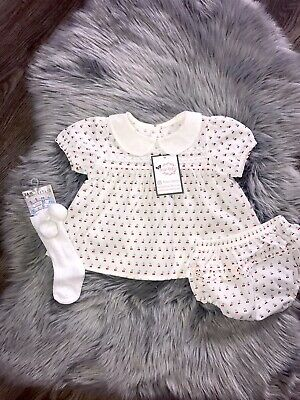 £14.50 • Buy Baby Girl Spanish Style Outfit Set Bloomers Dress 6 Months, 9M, 12M, 18M Smock