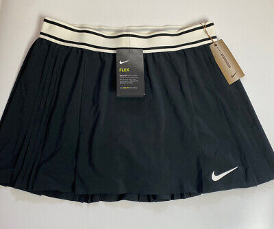 £34.99 • Buy Nike Flex Victory Court Maria Pleated Tennis Skirt Skort Medium 2in1 Cd7718 010