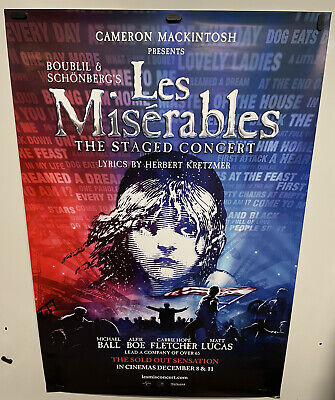£10.65 • Buy Original Movie Poster For Les Miserables Staged Concert Single Sided 27x40