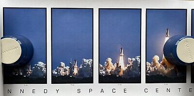 Kennedy Space Centre Space Shuttle Launch 6 Panel Launch Poster. Unopened. • 19.99£