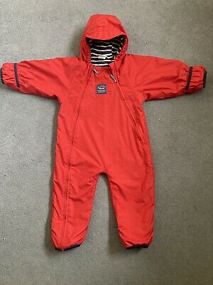 Jojo Maman Bebe Splish Splash Suit Fleece Lined Red Suit 12-18months Unisex • 10.50£