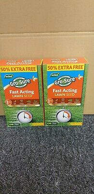 £10 • Buy Gro-sure Westland Fast Grass Lawn Seed Evergreen 450 Fast Germination Grass Seed