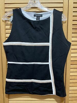 $ CDN6.34 • Buy White House Black Market Sleeveless Top Size 10 EUC NICE!