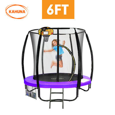 AU568.90 • Buy Kahuna Classic 6ft Trampoline With Basketball Set Purple Safety Net Enclosure