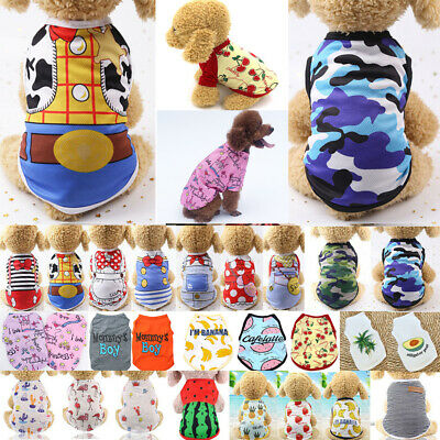 £2.29 • Buy Cute Pet Dog Cat Clothes Summer Puppy T Shirt Clothing Small Dogs Chihuahua Vest